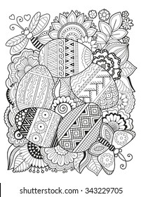 Easter Eggs Adult Coloring Pages Images Stock Photos Vectors Shutterstock