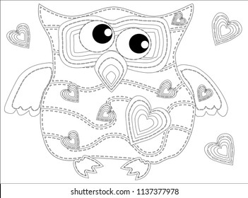 royalty free pencil drawing owl stock images photos vectors  coloring book for adult and older children coloring page with cute owl outline drawing