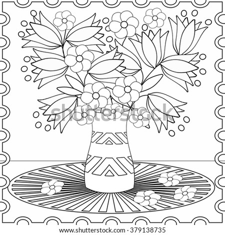 Coloring Book Children Adults Colors Shapes Stock Illustration ...