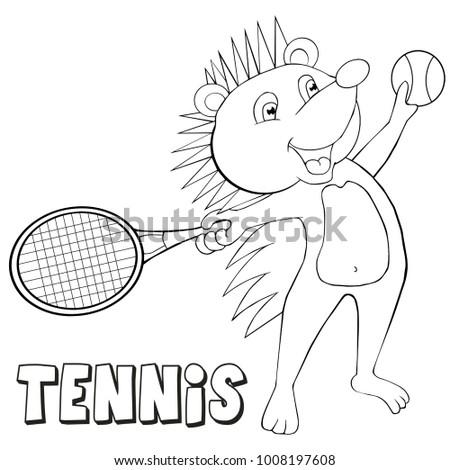 tennis coloring book