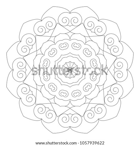 Royalty Free Stock Illustration Of Coloring Book Mandala Beginner