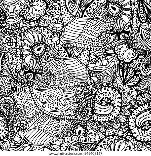 coloring book page design seamless 600w
