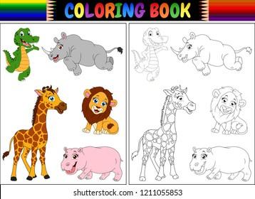 Imágenes Fotos De Stock Y Vectores Sobre Hipopotamo Para Colorear