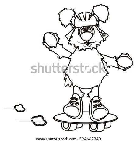 Royalty Free Stock Illustration Of Coloring Bunny Peeking Out