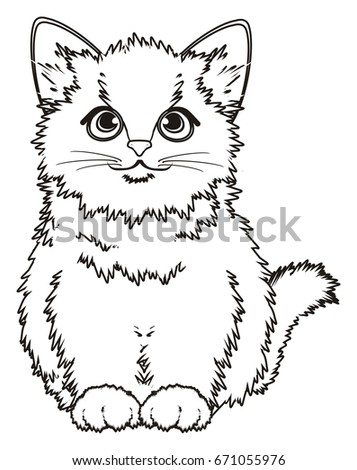 Royalty Free Stock Illustration Of Coloring Little Kitten Stock