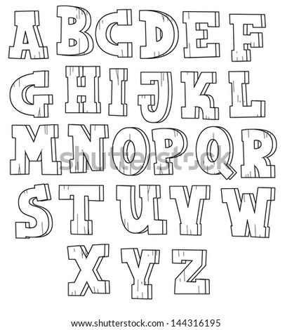 Coloring Page Board Game Cartoon Alphabet Stockillustration ...