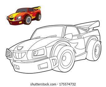 Coloring page - car - illustration for the children