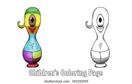 Bowling Strike coloring page | Free Printable Coloring Pages | 280x440