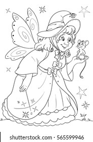 coloring page - Cinderella's fairy godmother