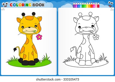 Coloring Page Giraffe Images Stock Photos Vectors Shutterstock