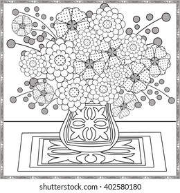 coloring page decorative elements flowers 260nw