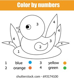 Color By Number Duck Images Stock Photos Vectors Shutterstock