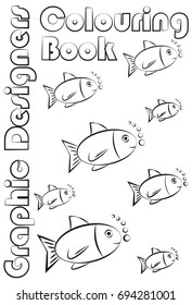 Coloring page. Graphic designers coloring book.