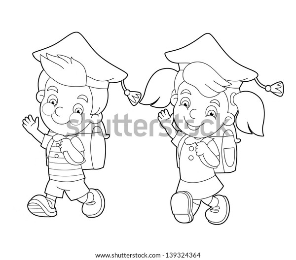 The coloring page - illustration for the children