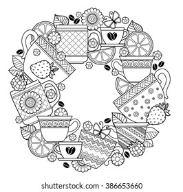 Coffee Cup Coloring Page Images Stock Photos Vectors
