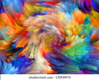 Colors In Bloom series. Visually pleasing composition of fractal color textures to serve as  background in works on imagination, creativity and design