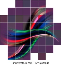 A colourful abstract  geometric quadrilateral background design