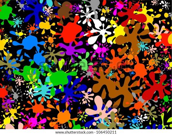 Colourful Abstract Graffiti Wallpaper Created Multi Stock