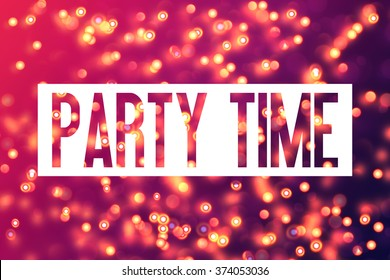 Colourful Background - Party Time - Bachelorette Party template - Invitation