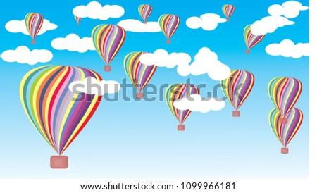 Colourful Balloons Wallpaper Stock Illustration 1099966181