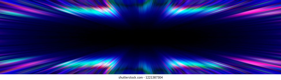 Colourful blue and purple starburst explosion banner with a black copy space centre