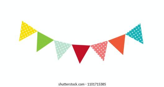 Colourful bunting illustration