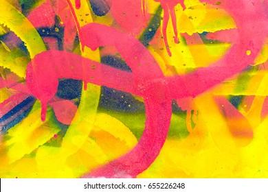 Colourful Graffiti. Closeup abstract street art
