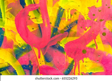 Colourful Graffiti. Closeup abstract street art
