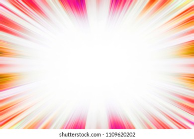 Colourful hot red and yellow starburst explosion border with a white copy space centre
