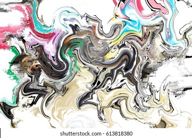 colourful marble abstract painting