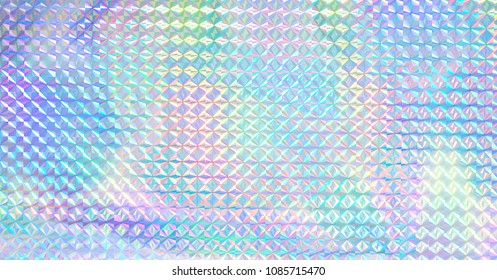 Colourful rainbow colour hologram.