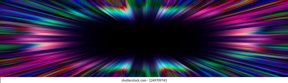 Colourful starburst explosion border with a black copyspace centre