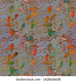 colourfull floral patterns decorations for graphics designs