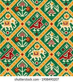 colourfull kalamkari and patola designs
