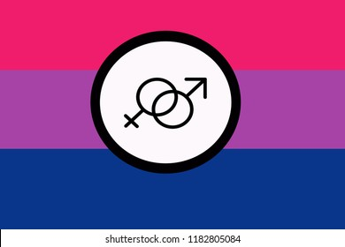 The colours pink, purple, and blue are the colors and icon symbol of Bisexual Pride Flag