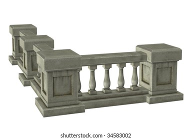Column with railings