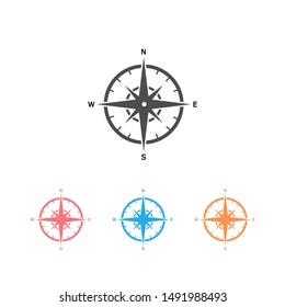 Comapass icon Template icon set illustration design
