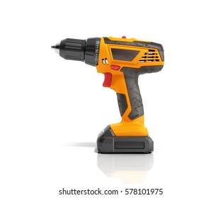 combi drill impact drill and screw driver isolated on white background 3d render