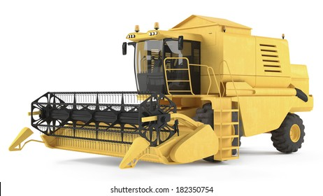Combine harvester isolated.