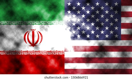It combines the Iranian flag with the American flag and fist and tells the concept of communication and dialogue.