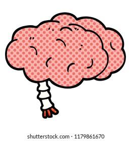 comic book style cartoon brain