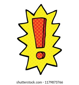comic book style cartoon exclamation mark