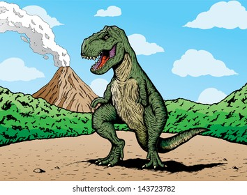 Comic book T-rex