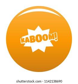 Comic boom kaboom icon. Simple illustration of comic boom kaboom icon for any design orange