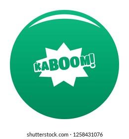 Comic boom kaboom icon. Simple illustration of comic boom kaboom icon for any design green