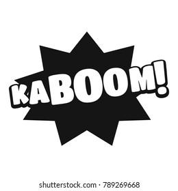 Comic boom kaboom icon. Simple illustration of comic boom kaboom  icon for web