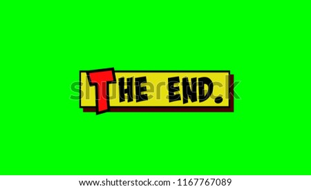Comic Strip Yellow Box Text Endのイラスト素材 1167767089 Shutterstock