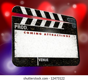 coming attractions clapper board