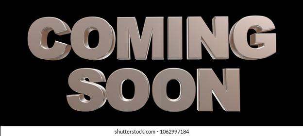 Coming soon message 3D rendering