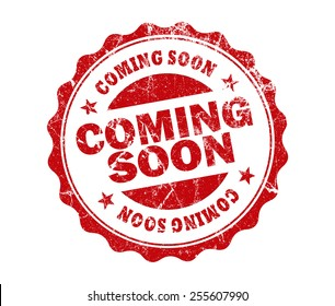 coming soon stamp on white background